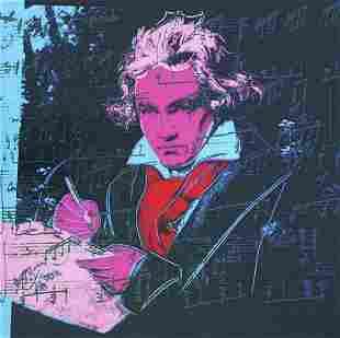"Andy Warhol- Screenprint in colors ""Beethoven 392,"