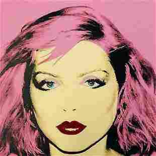 "Andy Warhol- Screenprint in colors ""Debbie Harry Red"