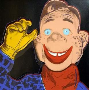 "Andy Warhol- Screenprint in colors ""Howdy Doody, 1981"""