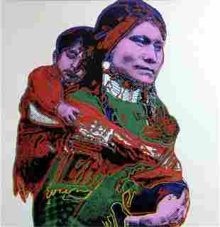 """Andy Warhol- Screenprint in colors """"Mother and Child"""""""