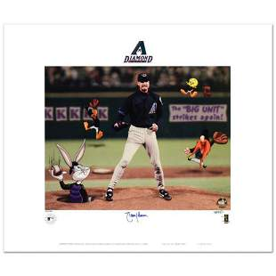 """""""Randy Johnson"""" Limited Edition Lithograph from Warner"""