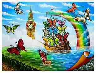 "Eugene Poliarush- Original Oil on Canvas ""Big Ben view"""
