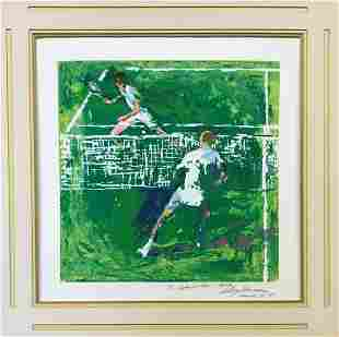 "LEROY NEIMAN SERIGRAPH ON PAPER ""GREEN TENNIS"""