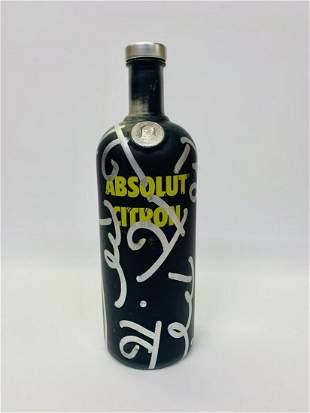 Romero Britto Original hand painting on bottle