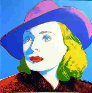 "Andy Warhol- Screenprint in colors ""INGRID BERGMAN With"