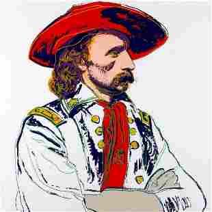"""Andy Warhol- Screenprint in colors """"General Custer,"""
