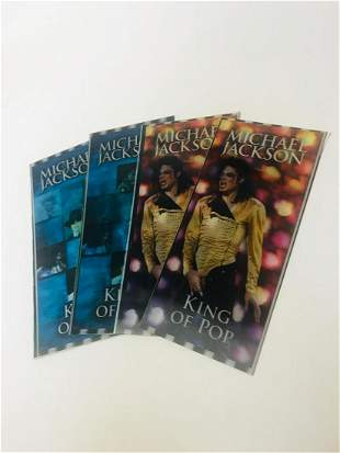 Michael Jackson lot of 4 concert tickets hologram