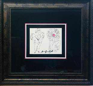 ANDY WARHOL lithograph on paper with unique hand-