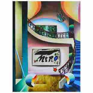 "Ferjo, ""Sweet Miro"" Original Painting on Canvas, Hand"