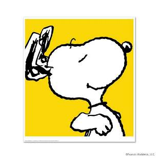 """Peanuts, """"Snoopy: Yellow"""" Hand Numbered Limited Edition"""