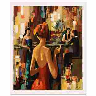 """Nelly Panto, """"Red Dress"""" Limited Edition Serigraph,"""