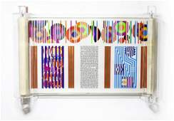 """Yaacov Agam- Serigraph on Parchment """"THE YAACOB AGAM"""