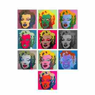 "Andy Warhol ""Classic Marilyn Portfolio"" Suite of 10"