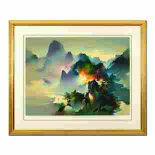 "H. Leung, ""Mountain Rhapsody"" Framed Limited Edition,"