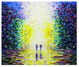 "Svyatoslav Shyrochuk- Original Oil on Canvas ""Walking"