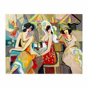 "Isaac Maimon - ""Spring Flowers"" Original Acrylic"