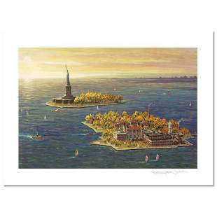 """""""Ellis Island, Fall"""" Limited Edition Mixed Media by"""