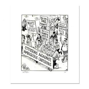 """Bizarro, """"March Against Ambiguity"""" Numbered Limited"""