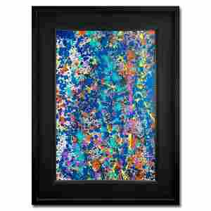 """Wyland, """"Coral 9"""" Hand Signed Original Painting on"""