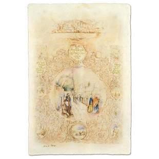 """Brachi Horen, """"Holy Places"""" Hand-Embellished Mixed"""