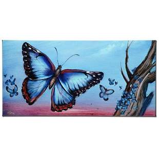 """""""Morpho Butterflies"""" Limited Edition Giclee on Canvas"""