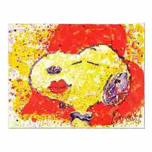 """Tom Everhart- Hand Pulled Original Lithograph """"A Kiss"""