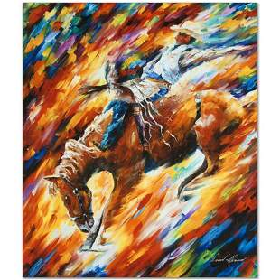 "Leonid Afremov (1955-2019) ""Rodeo, Dangerous Games"""