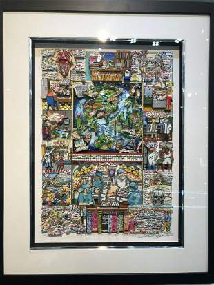 Charles Fazzino 3D limited edition silkscreen on paper