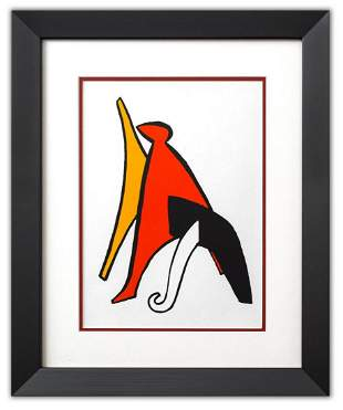 "Alexander Calder- Lithograph ""DLM141 - Sabot et bonnet"