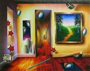 """Ferjo """"DREAMLIKE CORRIDOR"""" Giclee on Canvas"""