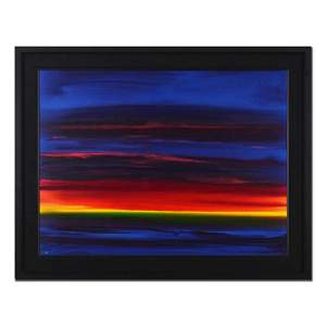 """Wyland, """"Green Flash"""" Hand Signed Original Painting on"""