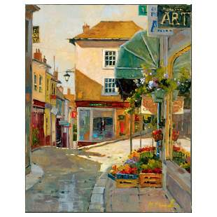 "Marilyn Simandle, ""Cobblestone Village"" Limited Edition"