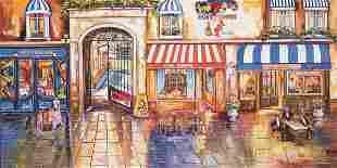 "Alexander Borewko- Original Giclee on Canvas ""Street"