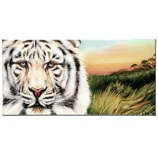 """""""White Bengal"""" Limited Edition Giclee on Canvas by"""