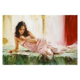 """Vidan, """"In Repose"""" Limited Edition on Canvas, Numbered"""