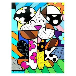 """Romero Britto """"Andy"""" LARGE Hand Signed Limited Edition"""