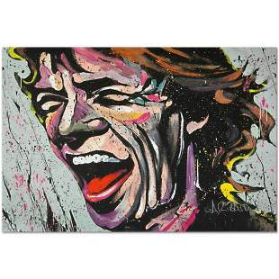 """""""Mick Jagger"""" Limited Edition Giclee on Canvas by David"""