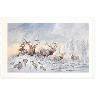 """Larry Fanning (1938-2014), """"Solstice Rendezvous - Elk"""""""