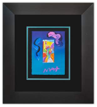 "Peter Max- Original Mixed Media ""Statue of Liberty Ver."