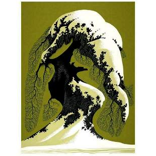 "Eyvind Earle (1916-2000), ""Snow Laden"" Limited Edition"