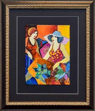 """Patricia Govezensky- Original Watercolor """"Mary and"""