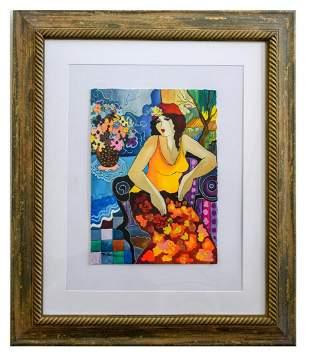 "Patricia Govezensky- Original Watercolor ""Julie"""