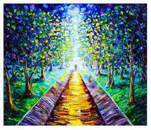 """Svyatoslav Shyrochuk- Original Oil on Canvas """"Light at"""