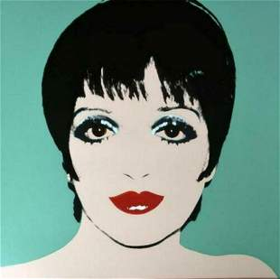 "Andy Warhol- Screenprint in colors ""Liza Minnelli"