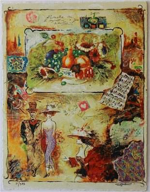"Sergey Kovrigo- Original Serigraph on Paper ""Pleasures"""