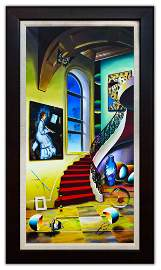 "Ferjo- Original Oil on Canvas ""Masters Avec La Fenetre"""