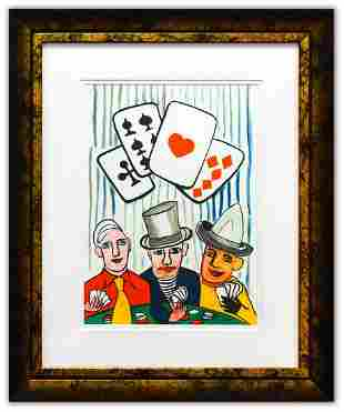 """Alexander Calder- Lithograph """"DLM212 - Joueurs de"""
