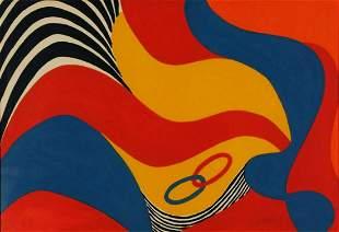 "Alexander Calder lithograph on paper ""Flying Colors"""