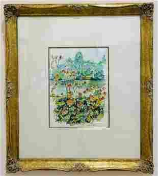 lelia Pissarro Original Watercolor on Paper