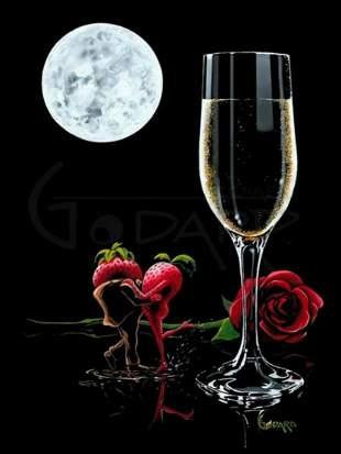 "Michael Godard Giclee on Canvas ""SPARKLING ROMANCE"""